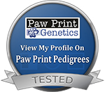 Paw Print Genetically Tested Parent